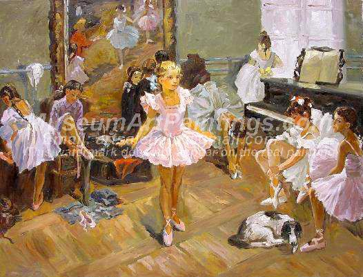 Ballet Oil Painting 034