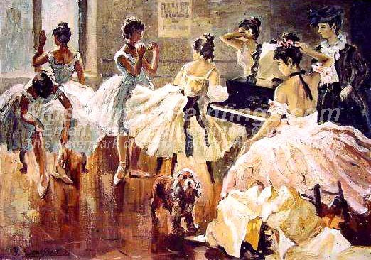Ballet Oil Painting 035