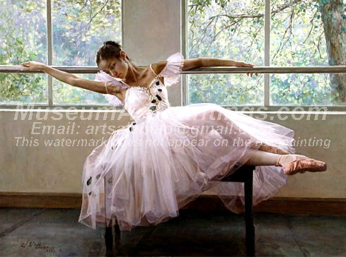 Ballet Oil Painting 036