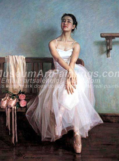 Ballet Oil Painting 046