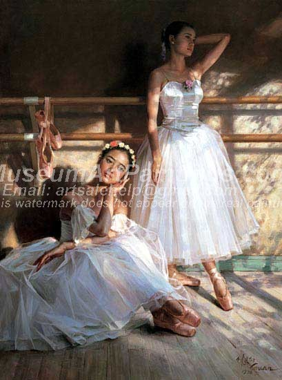 Ballet Oil Painting 047