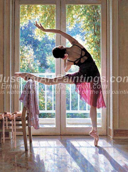 Ballet Oil Painting 049