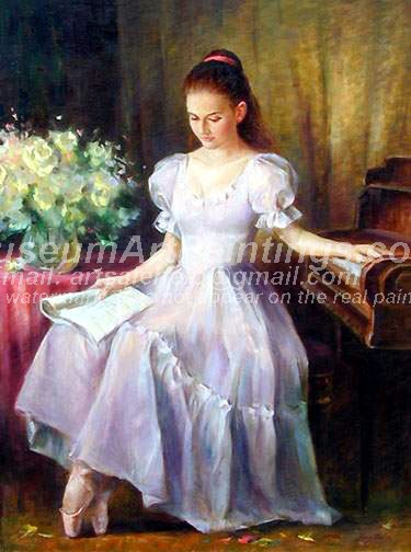 Ballet Oil Painting 050