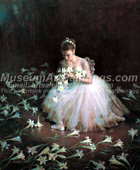 Ballet Oil Painting 052