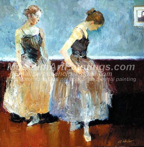 Ballet Oil Painting 055