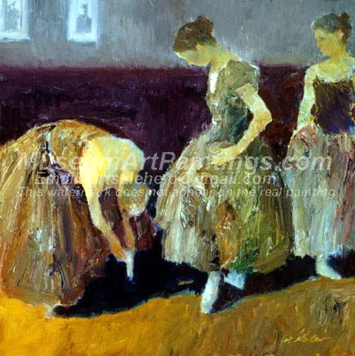 Ballet Oil Painting 056