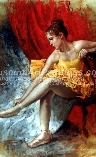 Ballet Oil Painting 062