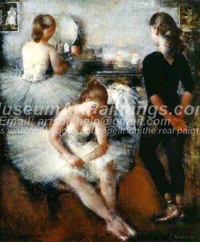 Ballet Oil Painting 064