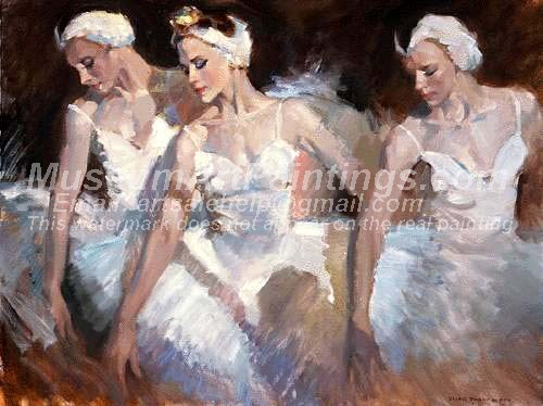 Ballet Oil Painting 066
