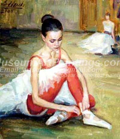 Ballet Oil Painting 073