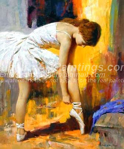 Ballet Oil Painting 074