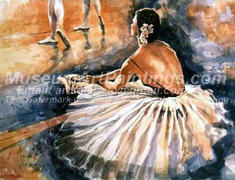 Ballet Oil Painting 080