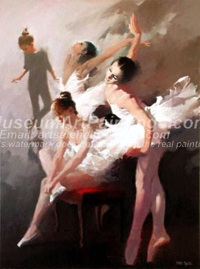 Ballet Oil Painting 084