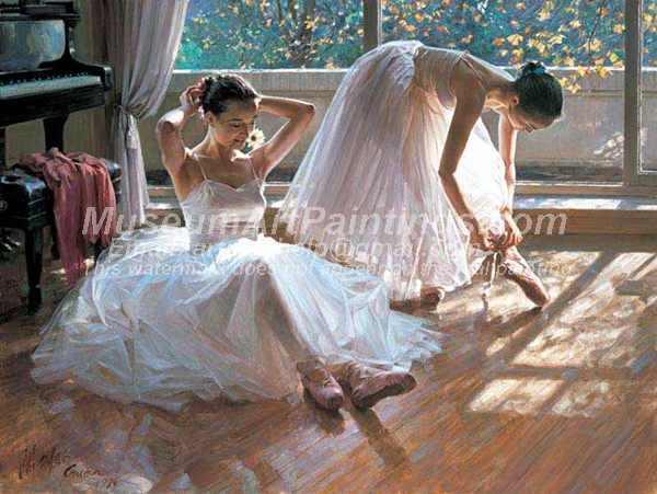 Ballet Oil Painting 087