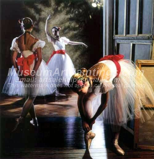 Ballet Oil Painting 091
