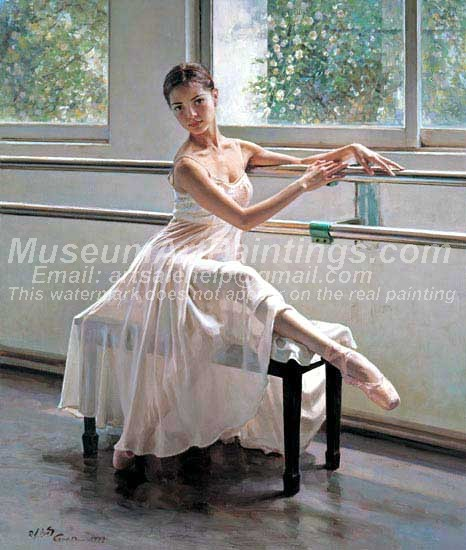 Ballet Oil Painting 093