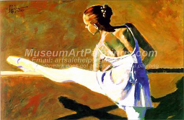 Ballet Oil Painting 097