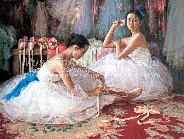 Ballet Oil Painting 098