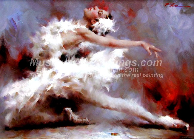 Ballet Oil Painting 107