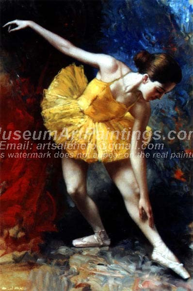 Ballet Oil Painting 112