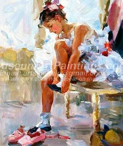 Ballet Oil Painting 120
