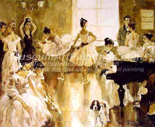 Ballet Oil Painting 126