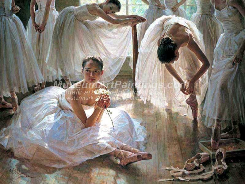 Ballet Oil Painting 127
