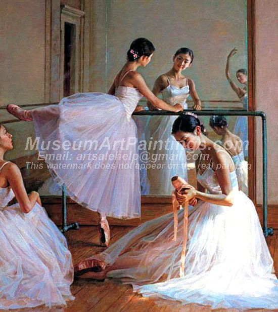 Ballet Oil Painting 128