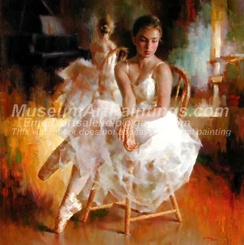 Ballet Oil Painting 142
