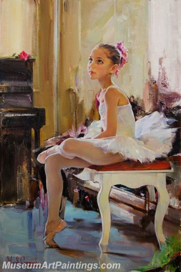 Ballet Oil Painting On Canvas MB015