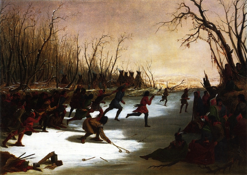 Ballplay of the Sioux on the St Peters River in Winter by Seth Eastman