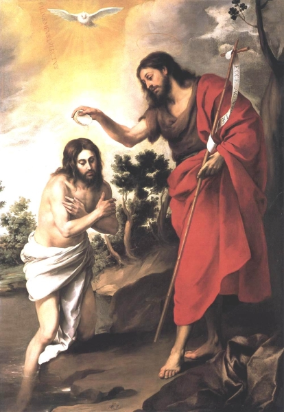 Baptism of Christ by Bartolome Esteban Murillo