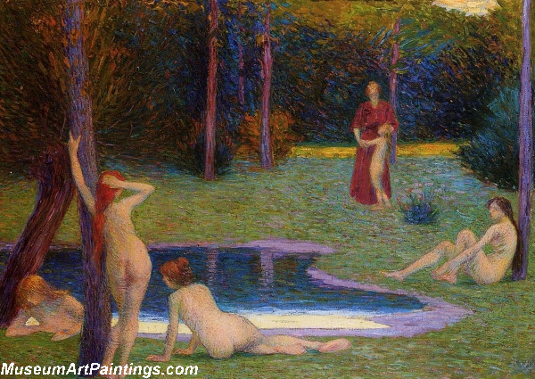 Bathers in the Evening by Hippolyte Petitjean