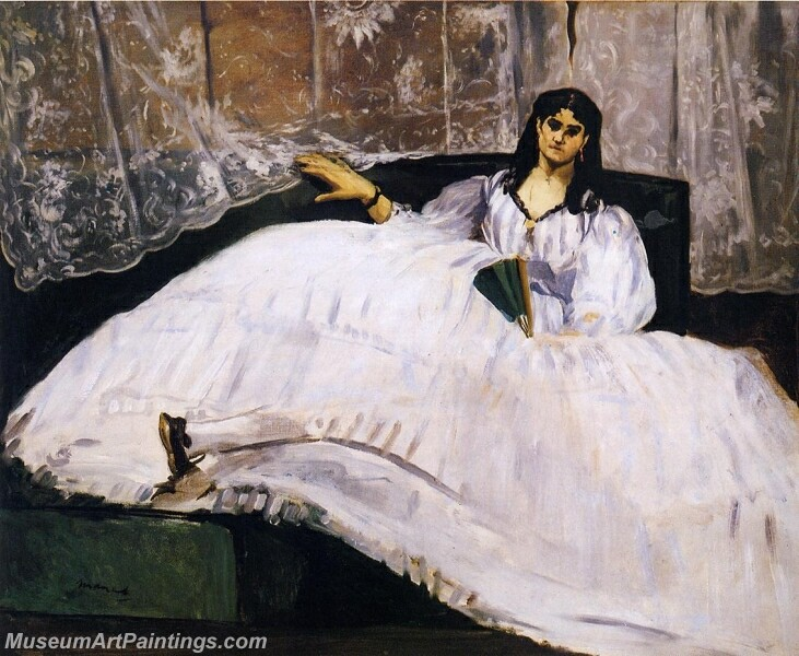 Baudelaires Mistress Reclining Painting
