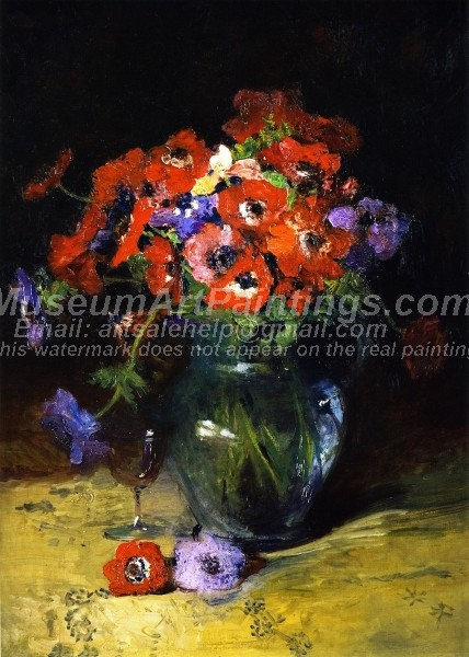 Beautiful Flower Paintings A Pot of Poppies