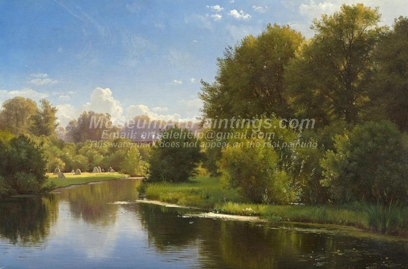Beautiful Landscape Oil Paintings Landscape with a Stream