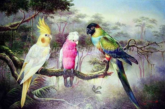 Bird Oil Paintings 019