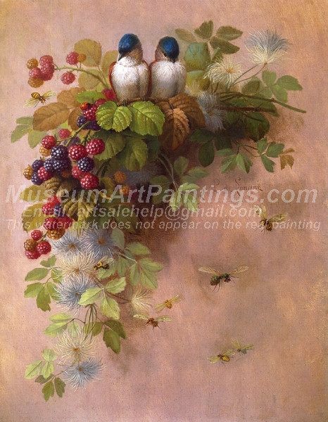 Birds Bees and Berries by Paul De Longpre