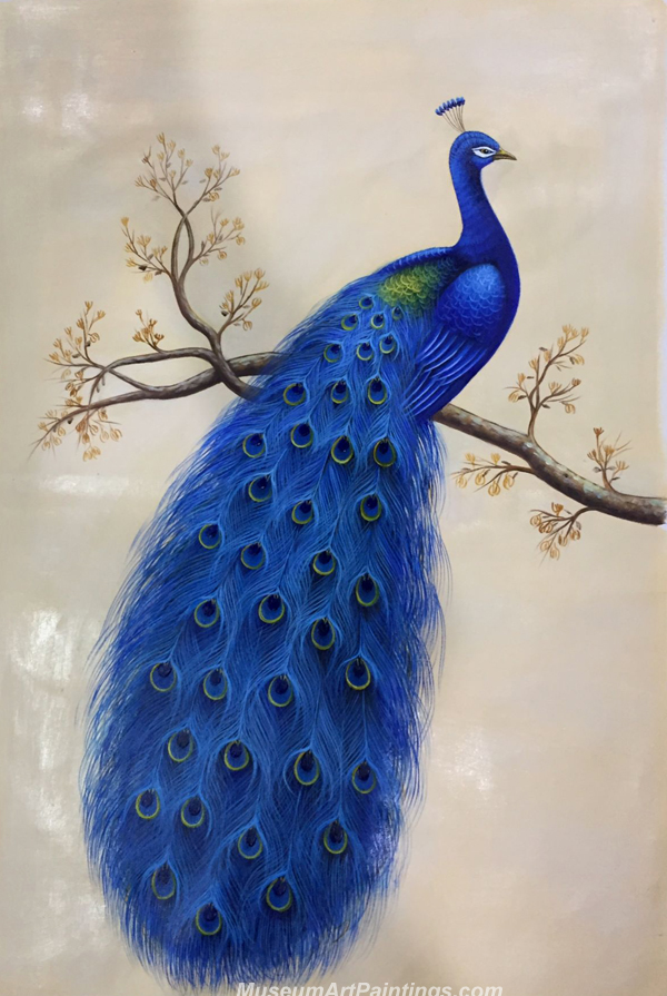 Blue Peacock Oil Painting MA09