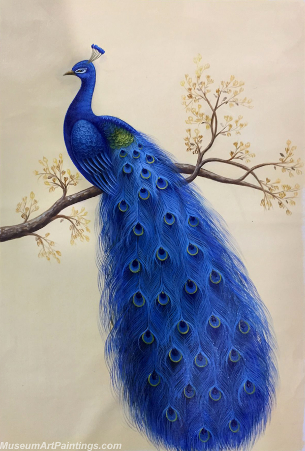 Blue Peacock Oil Painting MA10