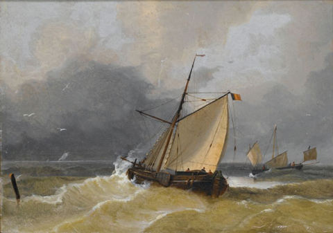 Boat Oil Painting 002