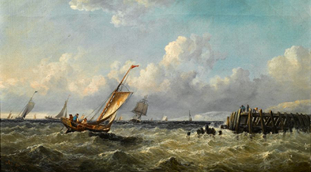 Boat Oil Painting 003