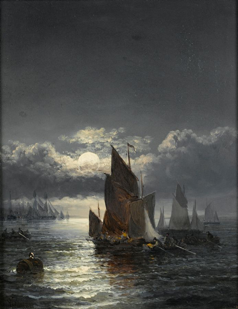 Boat Oil Painting 004