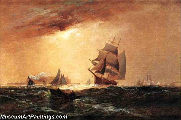 Boat Painting Ships in New York Harbor