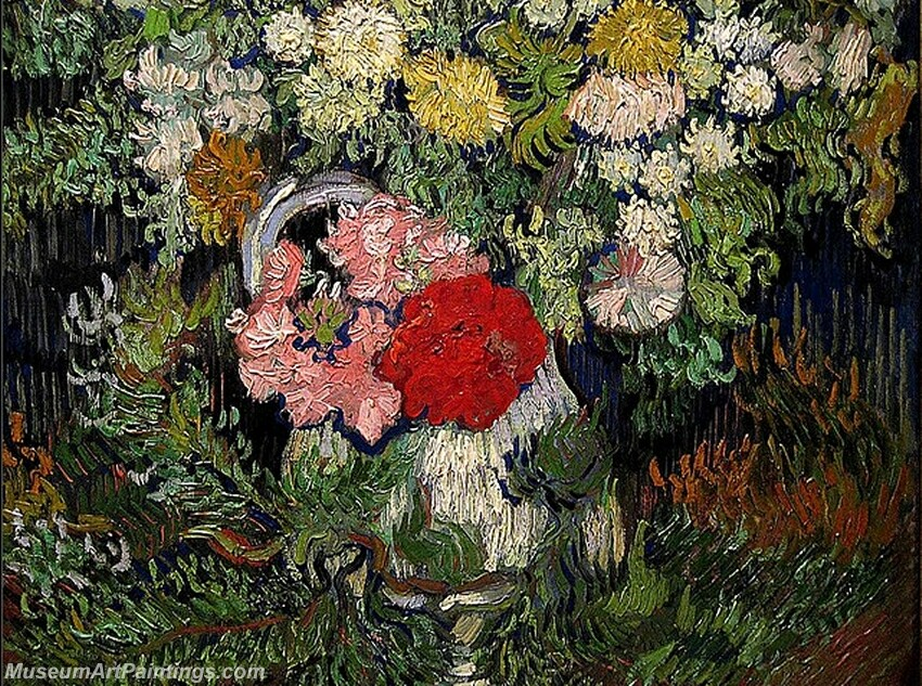 Bouquet of Flowers in a Vase Painting