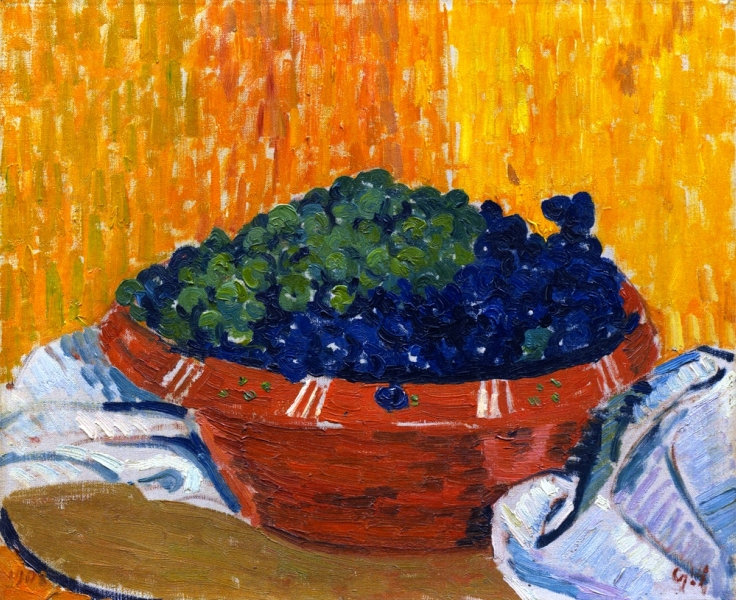 Bowl of Grapes by Giovanni Giacometti