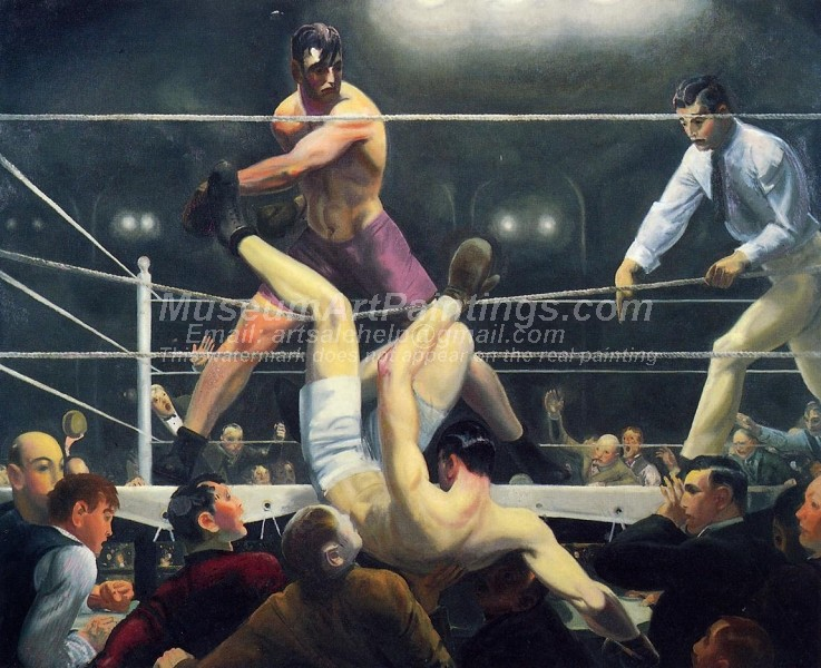 Boxing Paintings Dempsey and Firpo