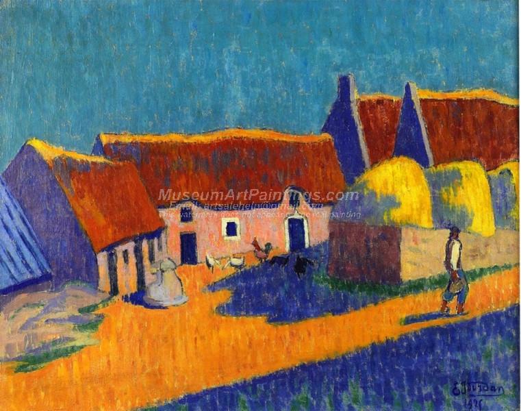 Breton Village by Emile Jourdan