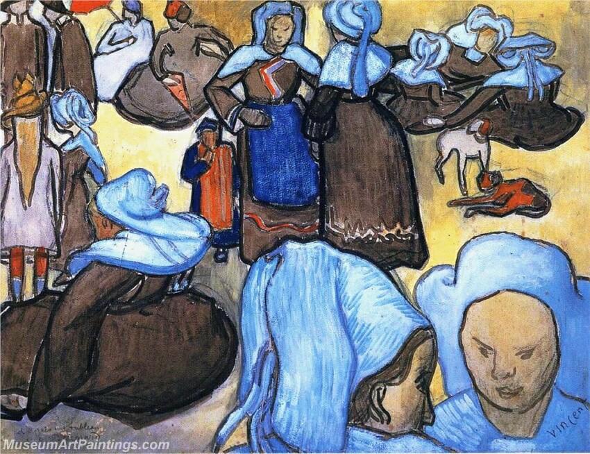 Breton Women Painting