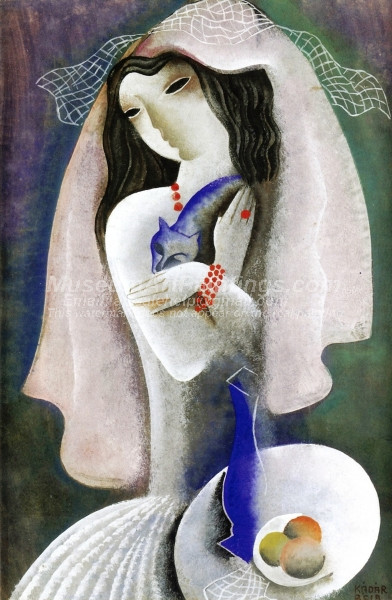 Bride with Cat by Bela Kadar